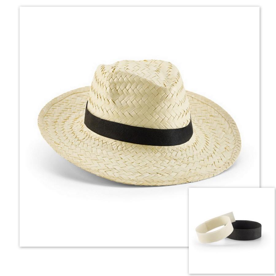 chapeau de paille publicitaire avec ruban a personnaliser objets publicitaires personnalis s. Black Bedroom Furniture Sets. Home Design Ideas