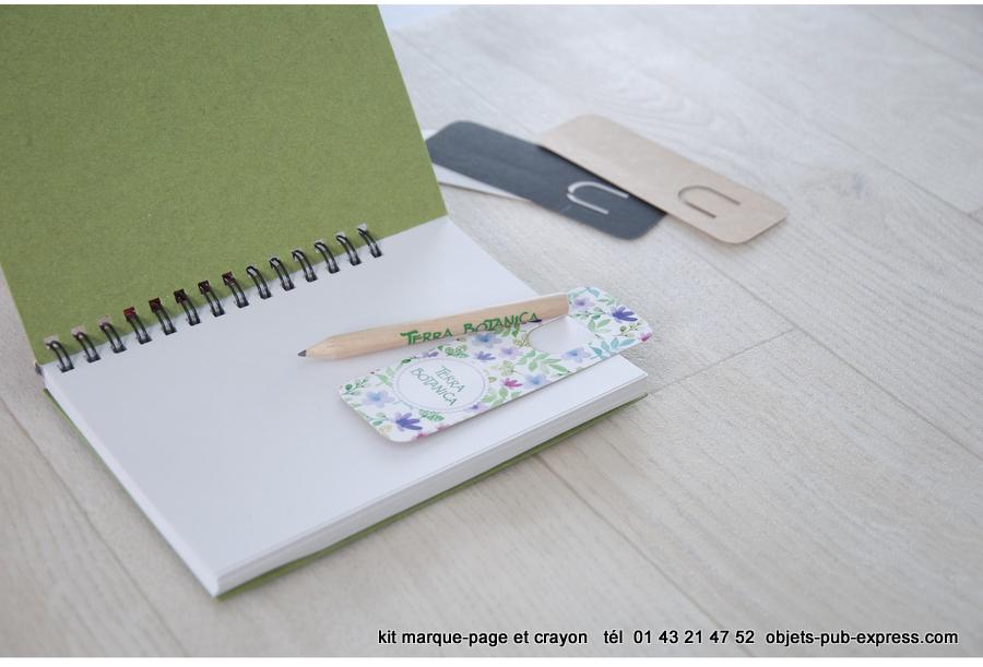 kit marque page et mini crayon 87mm fabrication fran aise objets publicitaires personnalis s. Black Bedroom Furniture Sets. Home Design Ideas