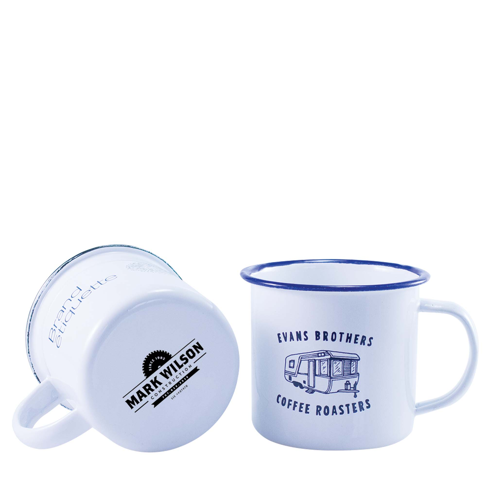 mug emaille blanc mug publicitaire vintage 285ml zoom objets publicitaires personnalis s. Black Bedroom Furniture Sets. Home Design Ideas