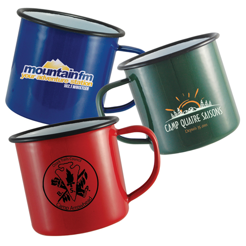 mug emaille vintage rouge bleu vert 568ml objets. Black Bedroom Furniture Sets. Home Design Ideas