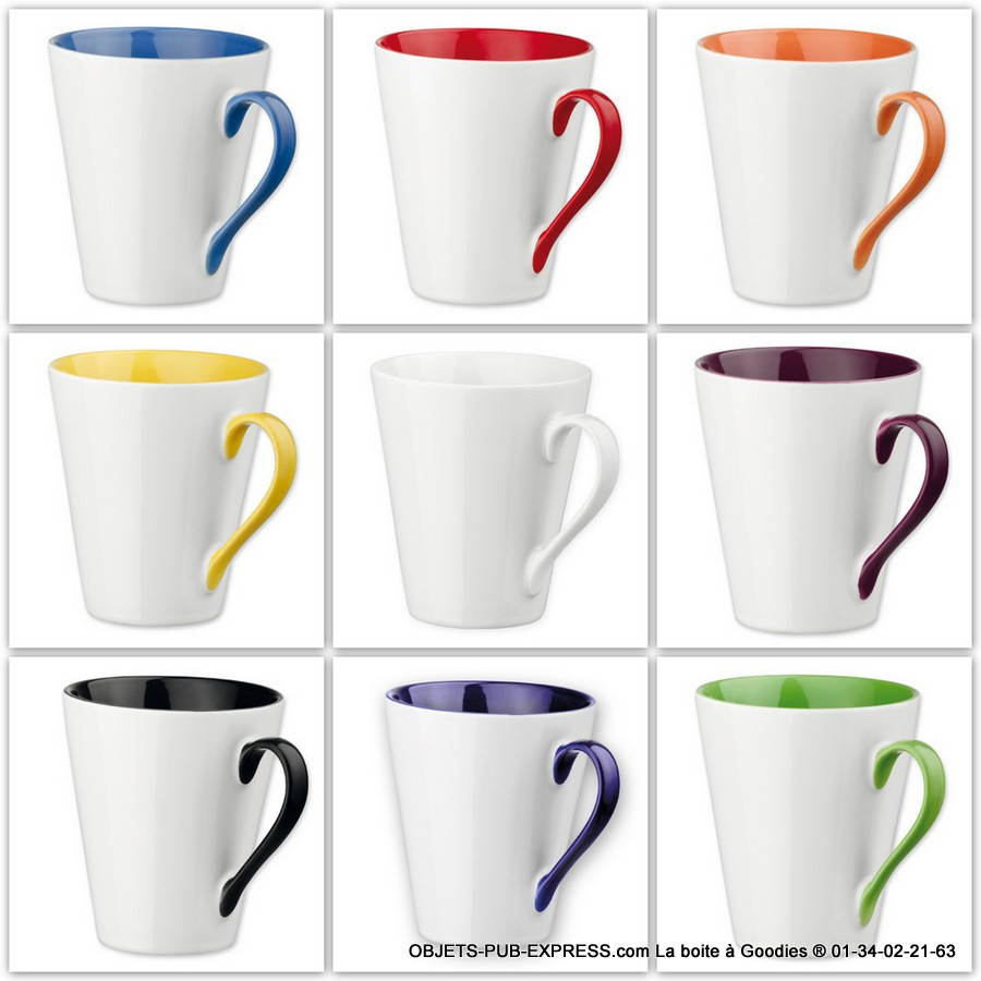 objets publicitaires des mugs tr s colores. Black Bedroom Furniture Sets. Home Design Ideas