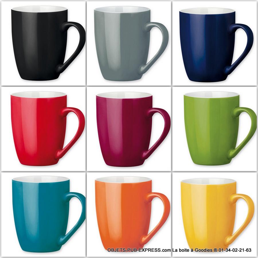 mug publicitaire couleur 300 ml objets publicitaires personnalis s mug et tasse personnalis s. Black Bedroom Furniture Sets. Home Design Ideas