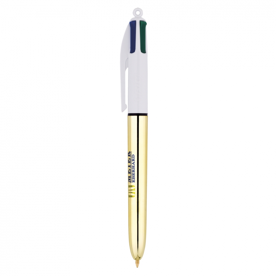 stylo 4 couleurs bic or