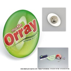BADGE BUTTON BOUTONNIERE EXPRESS ATTACHE MAGNETIQUE Accessoires Objets Pub Express®