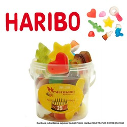 HARIBO GELIFIES HAPPY LIFE MINI POT 110 GR Sucré - Salé - Gourmandises Objets Pub Express®