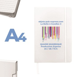 CARNET A4 BLANC 24H 48H 72 H PRODUCTION Supports papier Objets Pub Express®