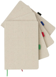 CARNET DE NOTES A5 TOILE DE COTON Supports papier Objets Pub Express®