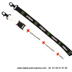 TOUR DE COU BIODEGRADABLE LANYARD ECO FRIENDLY Lanyard - lacets publicitaires Objets Pub Express®