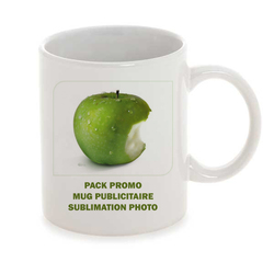 PACK PROMO MUG PUBLICITAIRE SUBLIMATION PHOTO 130 EX  Objets Pub Express®
