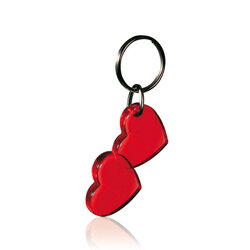 PORTE-CLE DOUBLE COEUR Made in Europe Accessoires Objets Pub Express®