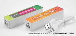 POWERBANK EXPRESS LOGO QUADRI  2200 mAh Clé usb Publicitaire High Tech  Objets Pub Express®