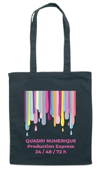 SAC SHOPPING NOIR 230 GR M² IMPRESSION QUADRI SUPER EXPRESS 24 48 72 H Bagagerie Objets Pub Express®