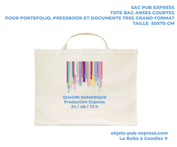 TOTEBAG EXPRESS POUR PRESENTATION XXL 24-48-72H PRODUCTION Bagagerie Objets Pub Express®