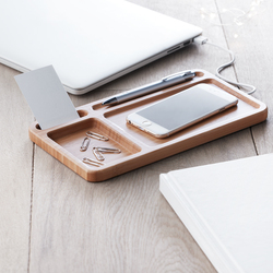 CLEANDESK VIDE POCHE AVEC CHARGEUR INDUCTION INTEGRÉ High Tech Objets Pub Express®